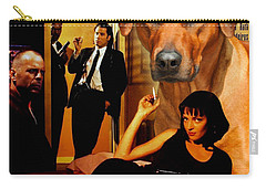 Rhodesian Ridgeback Art Canvas Print - Pulp Fiction Movie Poster Carry-all Pouch