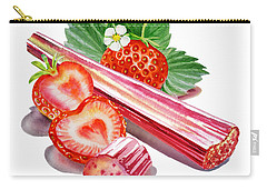 Carry-all Pouch featuring the painting Rhubarb Strawberry by Irina Sztukowski