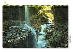 Rainbow Falls Watkins Glen Carry-all Pouch by Adam Jewell