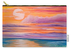 Carry-all Pouch featuring the painting Ribbons In The Sky by Holly Martinson