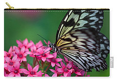 Rice Paper Butterfly Carry-all Pouch by Joann Vitali