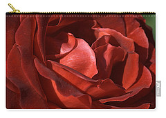 Carry-all Pouch featuring the photograph Rich Is Rose by Joy Watson