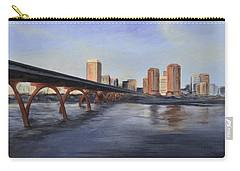 Carry-all Pouch featuring the painting Richmond Virginia Skyline by Donna Tuten