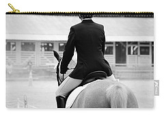 Rider In Black And White Carry-all Pouch