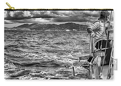 Carry-all Pouch featuring the photograph Riding The Crest Of The Wave by Howard Salmon