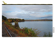 Carry-all Pouch featuring the photograph Right Side Of The Track by Mim White