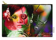 Rihanna Carry-all Pouch by Marvin Blaine