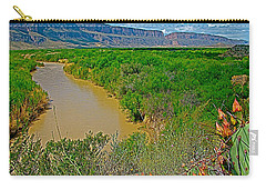 Rio Grande East Of Santa Elena Canyon In  Big Bend National Park-texas Carry-all Pouch