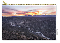 Rio Grande River Sunrise - White Rock New Mexico Carry-all Pouch by Brian Harig