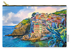 Riomaggiore Morning - Cinque Terre Carry-all Pouch by Dominic Piperata