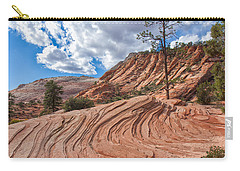 Carry-all Pouch featuring the photograph Rippled Rock At Zion National Park by John M Bailey