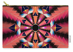 Carry-all Pouch featuring the drawing Rippled Source Of Light by Derek Gedney