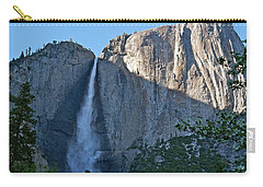 Rising Sun At Upper Yosemite Falls Carry-all Pouch by Michele Myers