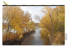 Carry-all Pouch featuring the photograph River And Gold by Christina Verdgeline