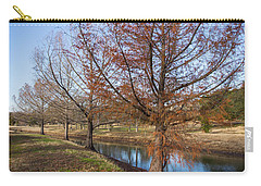 River And Winter Trees Carry-all Pouch