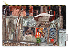 Carry-all Pouch featuring the painting River Antoine Rum Distillery by Laura Forde