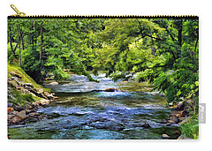 River At Dillsboro Carry-all Pouch by Kenny Francis