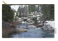 Carry-all Pouch featuring the photograph River Bend  by Bobbee Rickard