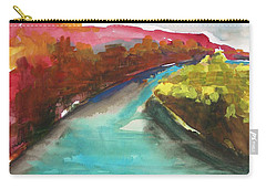 Carry-all Pouch featuring the painting River Bend In October by John Williams