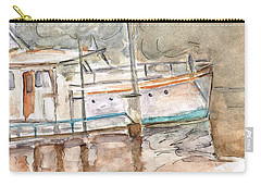 Carry-all Pouch featuring the painting River Boat  by Teresa White