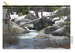 Carry-all Pouch featuring the photograph River Cabin by Bobbee Rickard