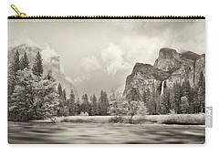 River Flowing Through A Forest, Merced Carry-all Pouch by Panoramic Images