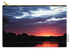 Carry-all Pouch featuring the photograph River Glow by Dave Files