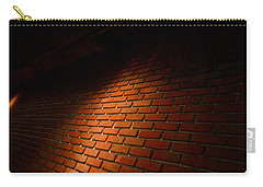 River Walk Brick Wall Carry-all Pouch by Shawn Marlow