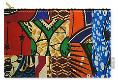 Carry-all Pouch featuring the tapestry - textile Riverbank by Apanaki Temitayo M