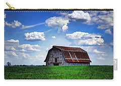 Riverbottom Barn Against The Sky Carry-all Pouch by Cricket Hackmann