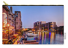 Riverwalk At Dusk Carry-all Pouch