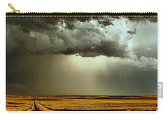 Road Into The Storm Carry-all Pouch by Steven Reed