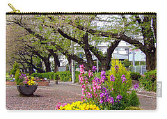 Carry-all Pouch featuring the photograph Road Of Flowers by Andrea Anderegg