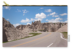 Road Through The Badlands Carry-all Pouch