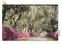 Road With Azaleas And Live Oaks Carry-all Pouch