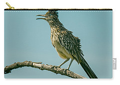 Roadrunner Out On A Limb Carry-all Pouch by Robert Frederick