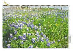 Roadside Bluebonnets  Carry-all Pouch by Jayne Wilson