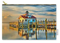 Roanoke Marsh Lighthouse Dawn Carry-all Pouch by Nick Zelinsky