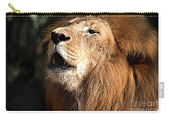 Carry-all Pouch featuring the photograph Roar - African Lion by Meg Rousher