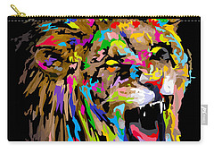 Carry-all Pouch featuring the digital art Roar by Anthony Mwangi