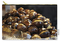 Carry-all Pouch featuring the photograph Roasted Chestnuts by Lilliana Mendez