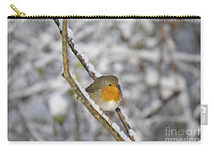 Robin At Winter Carry-all Pouch