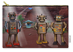 Robots With Attitudes  Carry-all Pouch