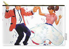 Rock And Roll Dancers Carry-all Pouch
