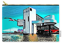 Carry-all Pouch featuring the photograph Rock And Roll Hall Of Fame - Cleveland Ohio - 4 by Mark Madere