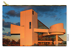 Carry-all Pouch featuring the photograph Rock And Roll Hall Of Fame by Jerry Fornarotto