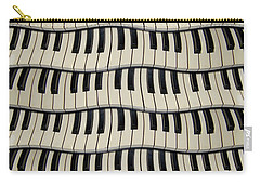 Rock And Roll Piano Keys Carry-all Pouch
