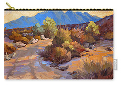Rock Cairn At La Quinta Cove Carry-all Pouch by Diane McClary