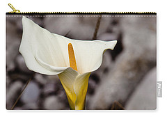 Rock Calla Lily Carry-all Pouch by Melinda Ledsome