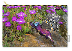 Rock Flower Birguana Fly Carry-all Pouch by Arthur Fix